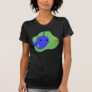 Narwhal (Green Background) T-Shirt