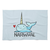 Narwhal Hand Towel