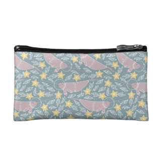 Narwhal in Space Pattern Makeup Bag