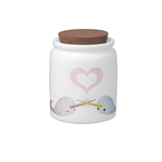 Narwhal Kisses Candy Jar