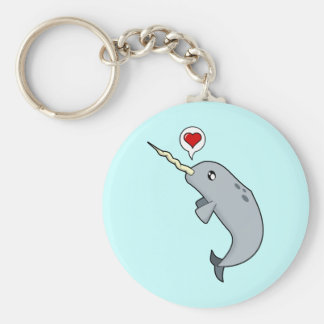Narwhal Love Keychain