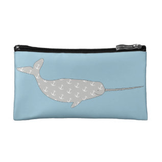 Narwhal Makeup Bag at Zazzle