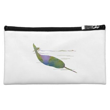 Beach Themed Narwhal Makeup Bag