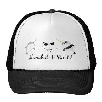 ¡Narwhal más panda! Gorras