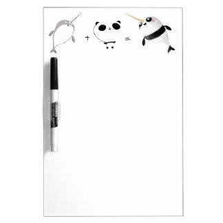 ¡Narwhal más panda! Pizarras Blancas De Calidad