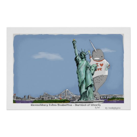 Narwhal of Liberty Poster