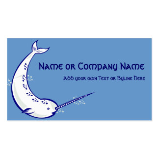 Narwhal on Sea Blue Business Cards