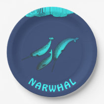 Narwhal Paper Plate