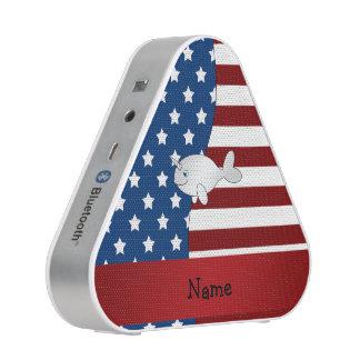 Narwhal patriótico conocido personalizada altavoz bluetooth