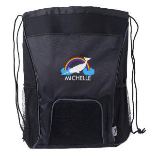 Narwhal personalizado mochila de cordón