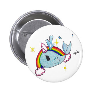 narwhal pinback button