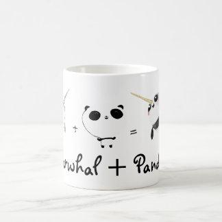 Narwhal plus Panda! Coffee Mugs