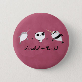 Narwhal plus Panda! Pinback Button