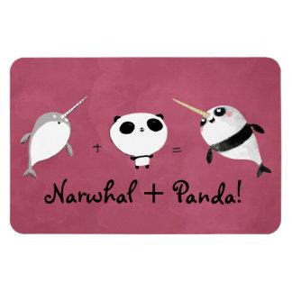 Narwhal plus Panda! Rectangle Magnet