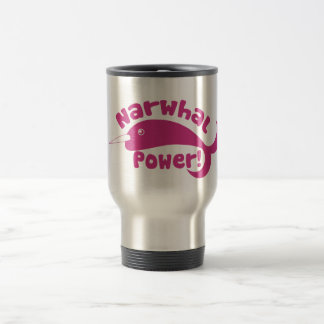 Narwhal Power 15 Oz Stainless Steel Travel Mug