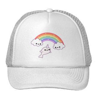 Narwhal que vuela lindo gorras