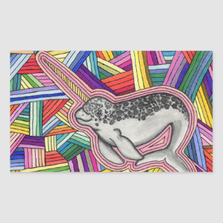 Narwhal Rectangular Sticker