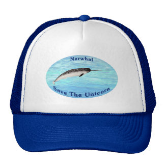 Narwhal - Save The Unicorn Mesh Hats