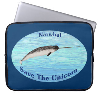 Narwhal - Save The Unicorn Laptop Sleeve