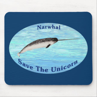 Narwhal - Save The Unicorn Mouse Pad