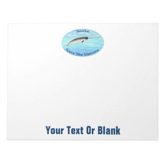 Narwhal - Save The Unicorn Note Pad
