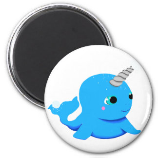 Narwhal snowball fight! magnet