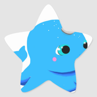 Narwhal snowball fight! star sticker