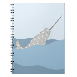 Narwhal Spiral Notebook