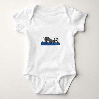 Narwhal Splash Baby Bodysuit