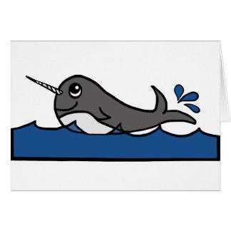 Narwhal Splash Card