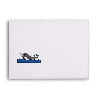Narwhal Splash Envelope