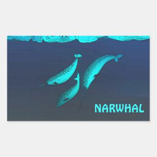 Narwhal Rectangular Sticker