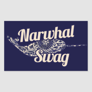 Narwhal Swag Rectangular Sticker