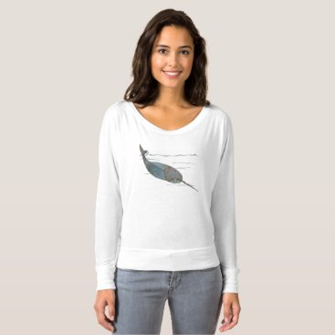 Beach Themed Narwhal T-shirt