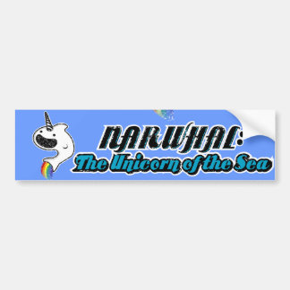 Narwhal:The Unicorn of the Sea Bumper Sticker