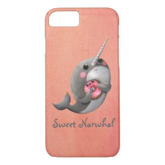 Narwhal tímido con el buñuelo funda iPhone 7