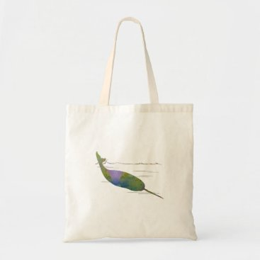 Beach Themed Narwhal Tote Bag