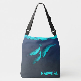 Narwhal Under The Ice Crossbody Bag