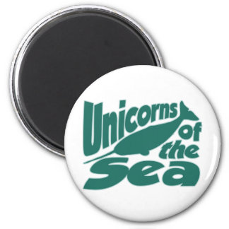 Narwhal Unicorn of the Sea 2 Inch Round Magnet