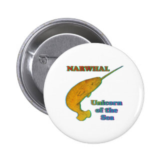 Narwhal - Unicorn of the Sea Pinback Button