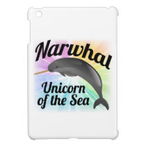 Narwhal Unicorn of the Sea, Cute Rainbow iPad Mini Cover