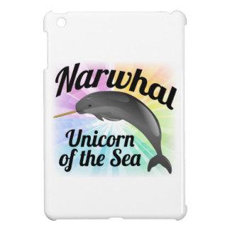 Narwhal Unicorn of the Sea, Cute Rainbow iPad Mini Cover
