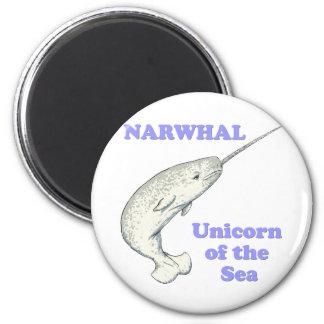 Narwhal unicorn of the sea fridge magnet