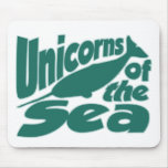 Narwhal Unicorn of the Sea Mousepads