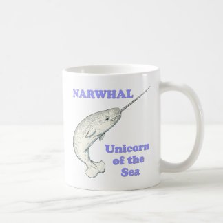 Narwhal unicorn of the sea coffee mug