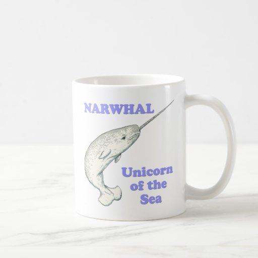 Narwhal unicorn of the sea classic white coffee mug