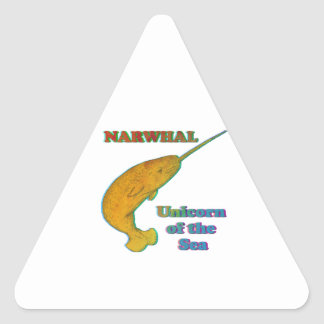 Narwhal - Unicorn of the Sea Triangle Sticker