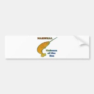 Narwhal - unicornio del mar pegatina de parachoque