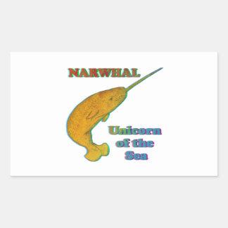 Narwhal - unicornio del mar rectangular altavoz