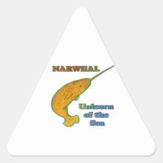 Narwhal - unicornio del mar pegatina de triangulo personalizadas